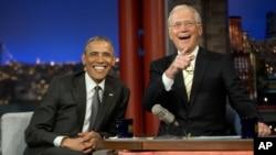 Tổng thống Obama trong cuộc phỏng vấn trên chương trình 'The Late Show' của David Letterman, ngày 4/5/2015.