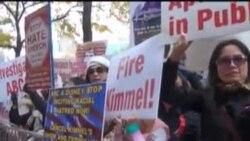 纽约华人连续两日示威 要求解雇坎摩尔