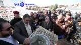 VOA60 Duniya: Shugaban 'Yan Mas'habar Sunni Da Ke Iraqi Ya Kafa Tubulin Gina Shahararren Masallacin Nan Na Al-Nuri