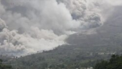 Mount Sinabung Volcano in Indonesia