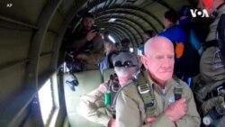 97岁老兵在诺曼底登陆纪念仪式开始时在诺曼底上空跳伞