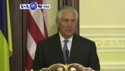 VOA60 America - Tillerson: Russia must take the first steps to reduce tensions in eastern Ukraine