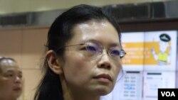 星期二獲邀出席美國總統特朗普在國會發表的國情咨文演說的台灣人權工作者李明哲的妻子李淨瑜(資料照片,張佩芝攝)