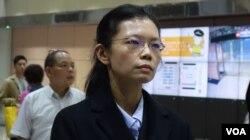 李净瑜抵达桃园机场举行记者会(11月29日,张佩芝摄)