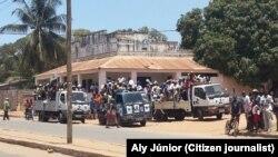 Em Pemba, o encerramento da campanha da Renamo. Moçambique, Outubro 2014