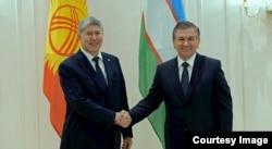 Prezidentlar Atambayev va Mirziyoyev, dekabr, 2016