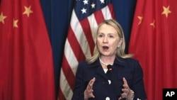 美國國務卿克林頓=將於下星期訪問中國。(資料圖片)