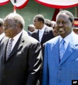 Le président Kibaki et le Premier ministre Raila Odinga