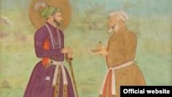 Shah Jahan with Asaf Khan (Courtesy Arthur M. Sackler Gallery)