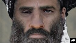 FILE -Taliban leader Mullah Omar.