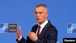 Генсек Йенс Столтенберг комментирует итоги встречи министров обороны НАТО