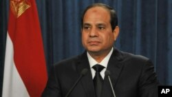 Egypt's President Abdel-Fattah el-Sissi who was army chief when he toppled the country's first democratically elected civilian President Mohamed Morsi on July 3, 2013.