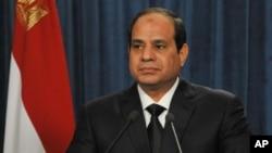 FILE - President Abdel-Fattah el-Sissi, Feb. 16, 2015.