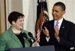 Le président Barack Obama annonçant la nomination de Mme Kagan