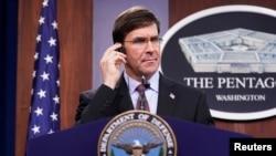 Le ministre américain de la défense, Mark Esper.