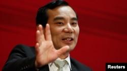 安邦公司董事长吴小晖在北京参加中国发展论坛会议(2017年3月18日)。他在6月被带走。