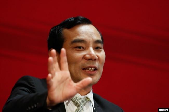 安邦公司董事长吴小晖在北京参加中国发展论坛会议(2017年3月18日)