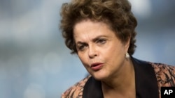 Brazil's former President Dilma Rousseff gives an interview in Rio de Janeiro, Brazil, July 14, 2017.