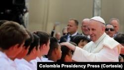 Pap Franswa nan peyi Kolonbi Septanm 2017