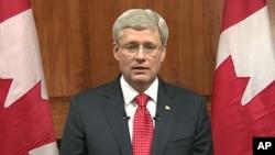 Primer ministro de Canadá, Stephen Harper.