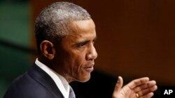 Presiden AS Barack Obama Rabu (24/9) mendesak ISIS agar meninggalkan medan perang.