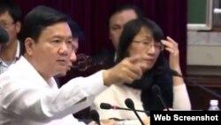 Bí thư Thành ủy TP.Hồ Chí Minh Đinh La Thăng.