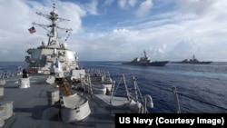 Khu trục hạm USS Stethem lớp Arleigh Burke.