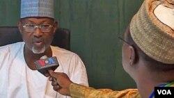 Farfesa Attahiru Jega da Ibrahim Alfa Ahmed.