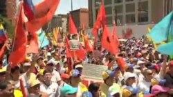 تظاهرات طرفداران و مخالفان مادرو در کاراکاس