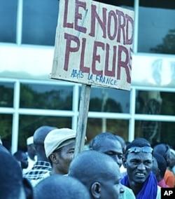 Des resortissants du Nord malien manifestant dans la capitale