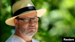 Director Lars Von Trier poses during an interview with Reuters in Mougins, France, May 21, 2011.