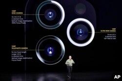 苹果市场营销高级副总裁菲利普·席勒讲解iPhone 11 Pro三个镜头