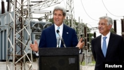 U.S. Secretary of State John Kerry during visit to an Islamabad electric supply company substation. (File)