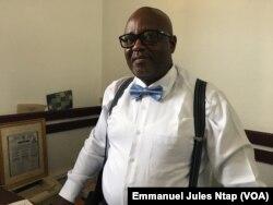 L'avocat camerounais Hypolite Meli, à Yaoundé, le 21 juin 2018. (VOA/Emmanuel Jules Ntap)