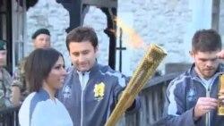 奧運火炬開始在倫敦傳遞