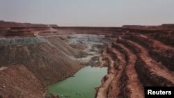 The Tamgak open air uranium mine is seen at Areva's Somair uranium mining facility in Arlit, Niger, September 25, 2013.