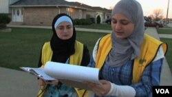 Maryam Al-Zoubi dan rekannya dari New American Democracy Project mendorong pemilih Muslim untuk ikut pemilu.