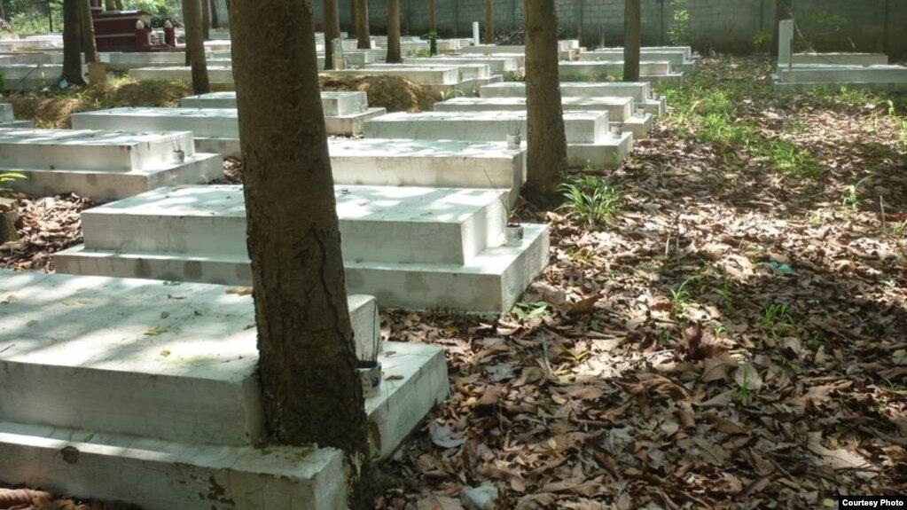 Một phần Nghĩa Trang Quân Đội Biên Hòa, nơi an nghỉ của nhiều ngàn quân nhân VNCH.