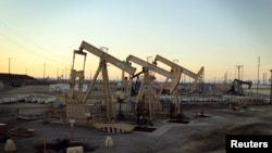 Oil rig pumpjacks