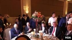 عبدالرشید دوستم با اعضای بلندپایۀ حکومت در مراسم نامزدی پسرش در انقره