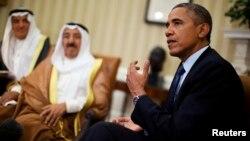 El presidente Obama recibió al emir de Kuwait, jeque Sabá al Ahmad al Jaber al Sabá,en la Casa Blanca.