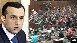 تحصُن نمایندگان ولسی جرگه در اعتراض به حکم رئیس جمهور