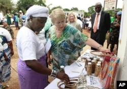 UN Women Executive Director Michelle Bachelet visits Liberia to commemorate the 100th anniversary of International Women's Day.