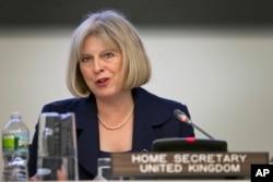 United Kingdom Home Secretary Theresa May