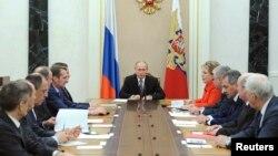 Заседание Совета безопасности России в Кремле. Москва. 6 марта 2015 г.