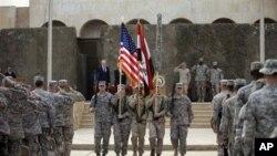 Cerimonia da retirada das tropas americanas do Iraque