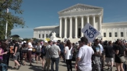 Protesters Gather Outside Supreme Court to Oppose Kavanaugh Nomination