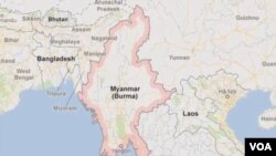 缅甸地理位置图