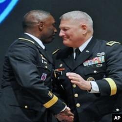 Comandantes militares americanos da AFRICOM em Estugarda na Alemanhã