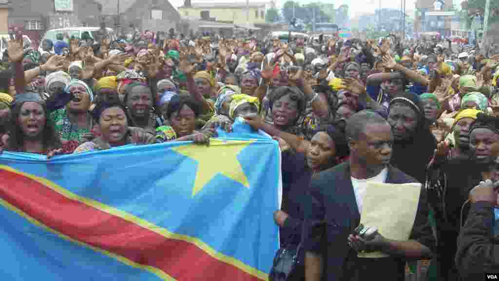 DRC Women demonstrating in Goma for peace